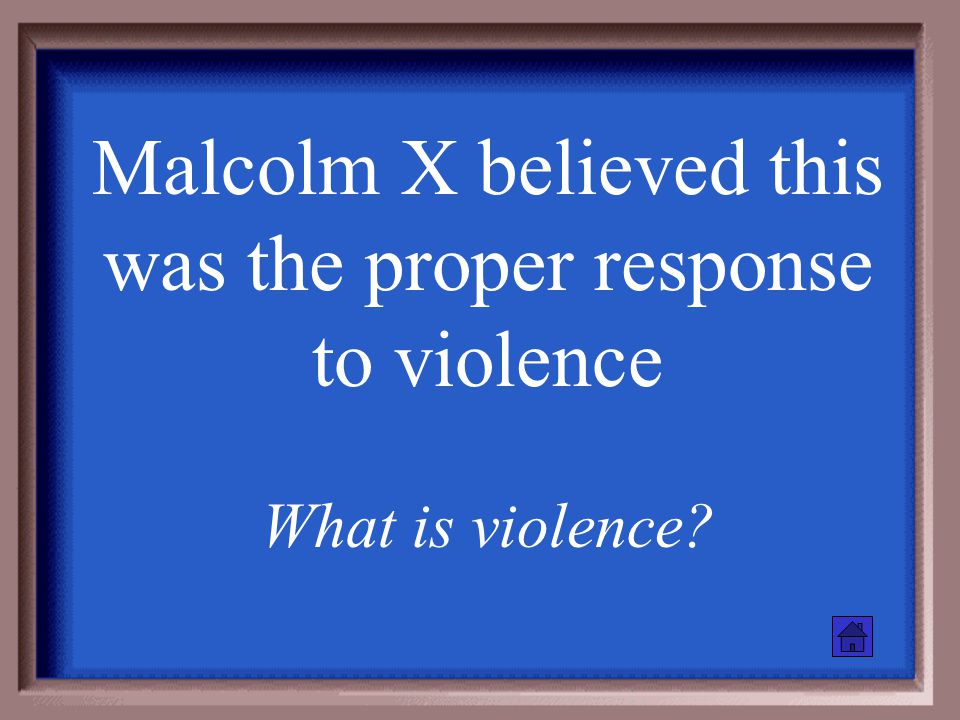 """MLK believed the proper response to violence was this What is """"nothing""""?"""