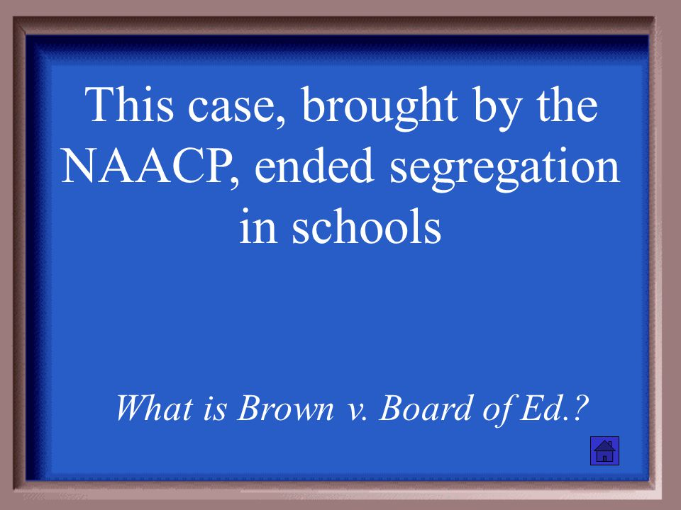 """This case established """"separate but equal"""" What is Plessy v. Ferguson?"""