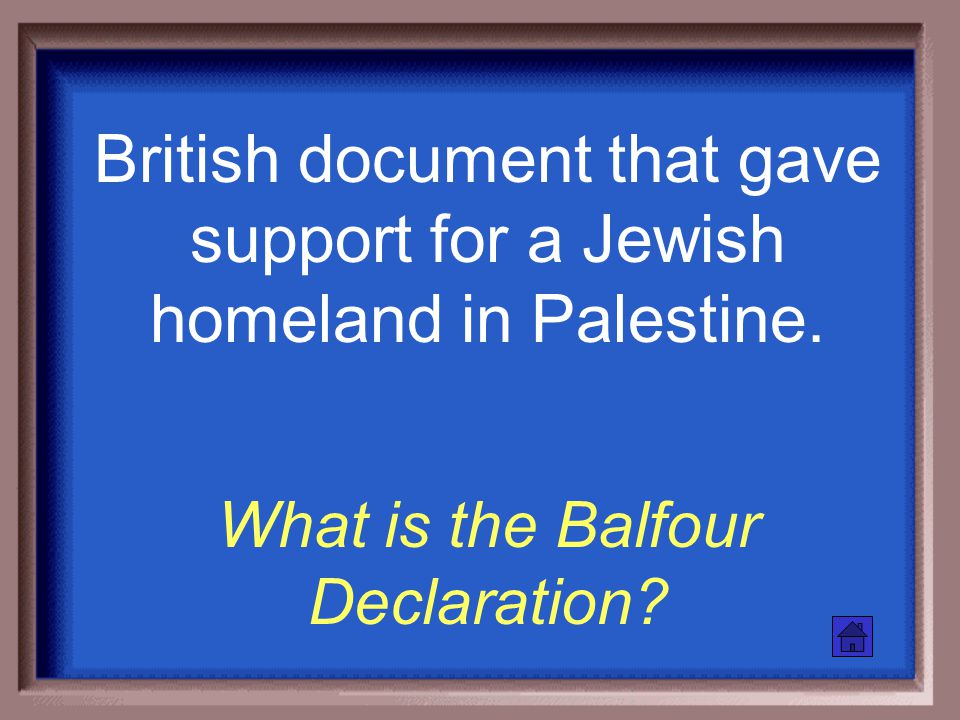 The dream of reestablishing a Jewish state in the land of Palestine. What is Zionism?
