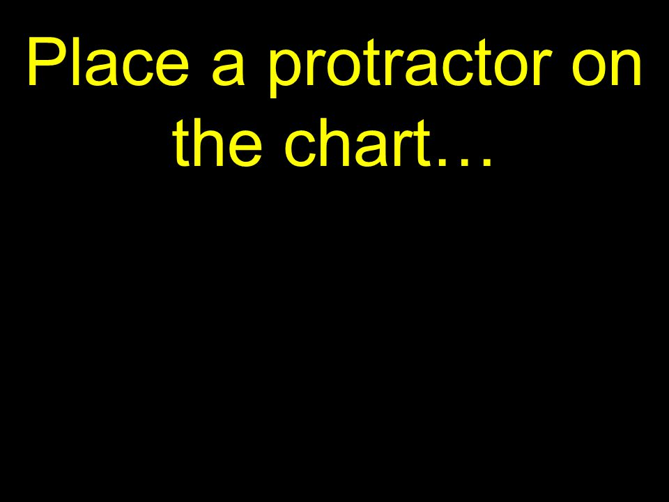 34 Place a protractor on the chart…