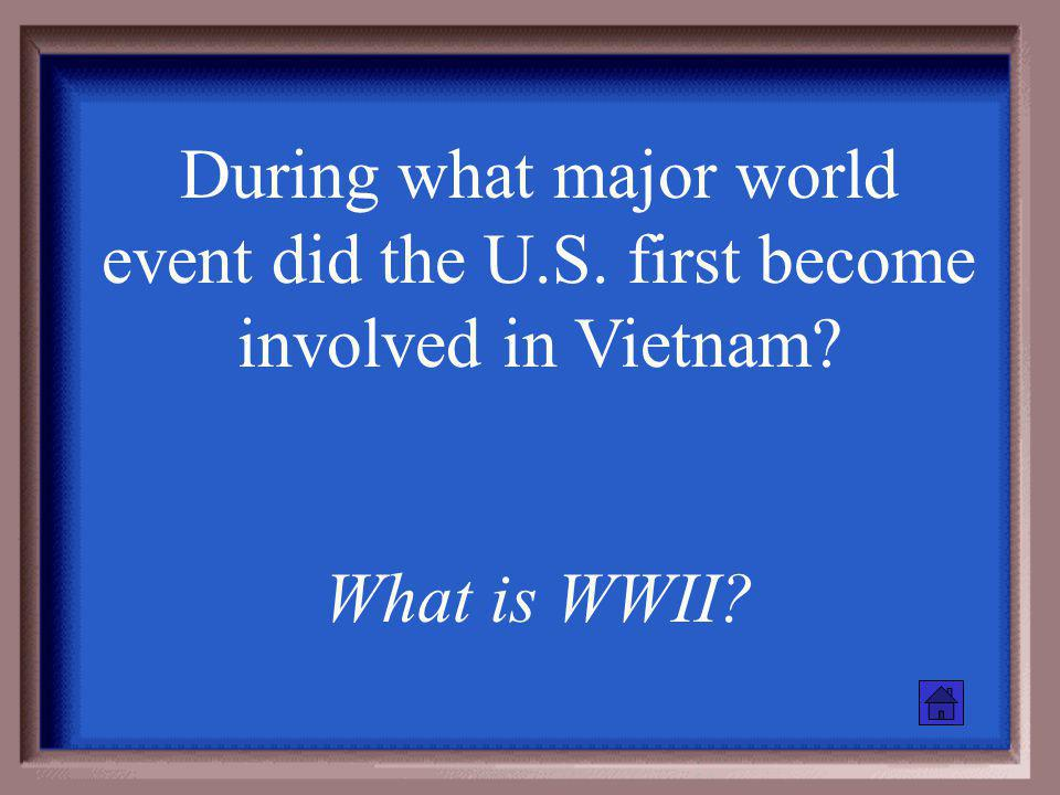 The Vietnam War is an example of this Cold War Era policy What is containment