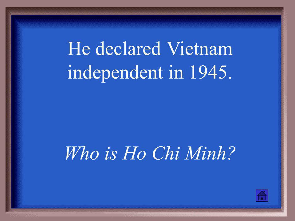 This city, the capitol of South Vietnam, was renamed Ho Chi Minh City following the war What is Saigon