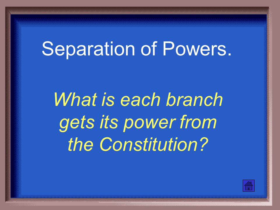 Name the 3 branches of our Govt and what each one does.
