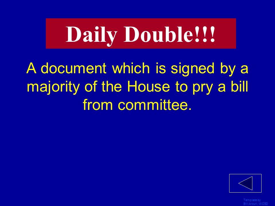 Template by Bill Arcuri, WCSD A procedure for terminating debate in the Senate.