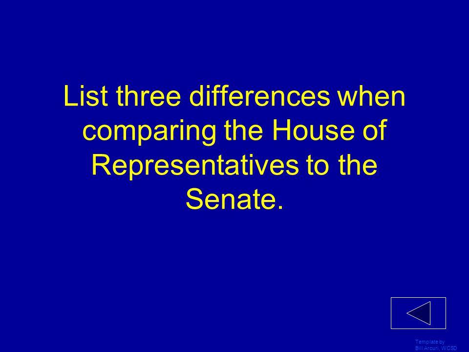 Template by Bill Arcuri, WCSD Identify three ways that a bill can be killed.