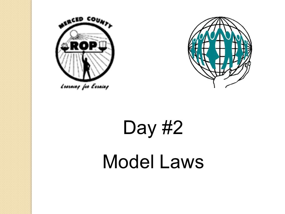 Day #2 Model Laws