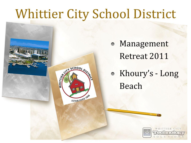 Whittier City School District Management Retreat 2011 Khoury's - Long Beach