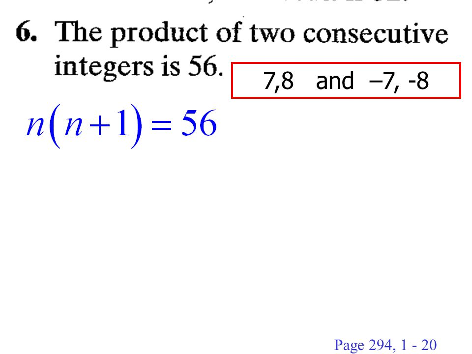 7,8 and –7, -8