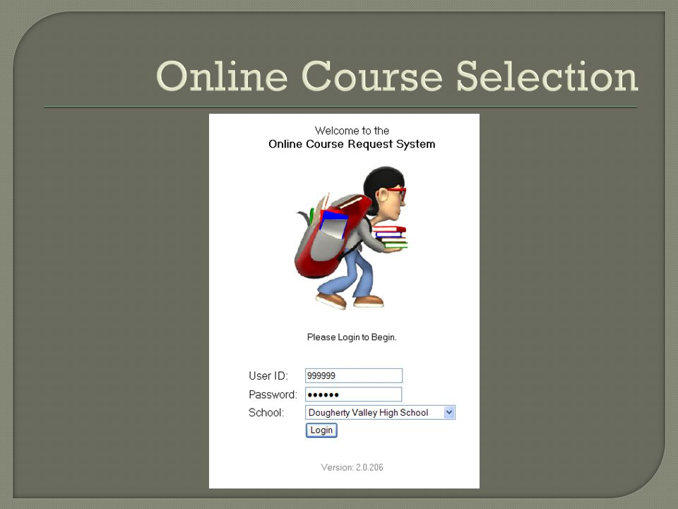 Online Course Selection