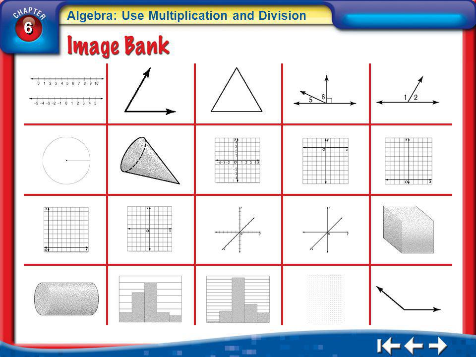 6 6 Algebra: Use Multiplication and Division IB 1