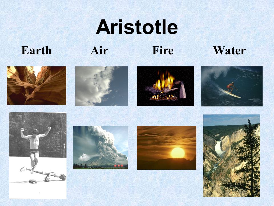 Aristotle Earth Air Fire Water