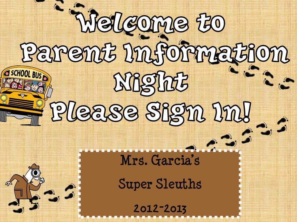 Mrs. Garcia's Super Sleuths 2012-2013