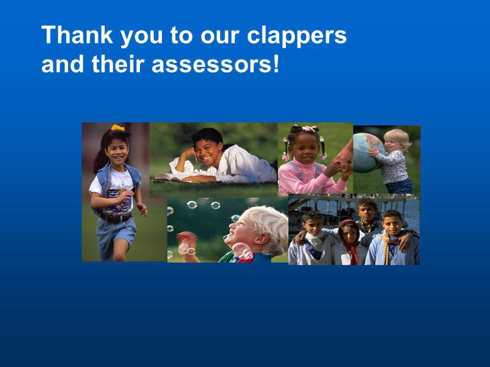 Thank you to our clappers and their assessors!