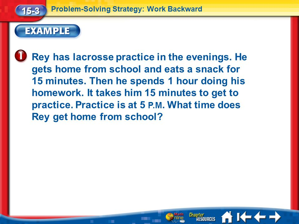 Lesson 3 Ex1 Rey has lacrosse practice in the evenings.