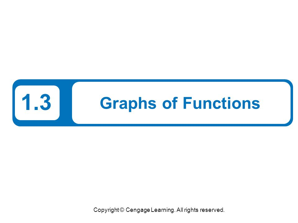 Copyright © Cengage Learning. All rights reserved. 1.3 Graphs of Functions