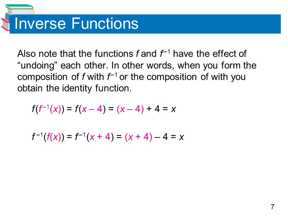 18 Example 7 – Testing for One-to-One Functions Is the function one-to-one.