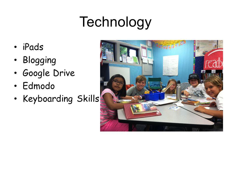 Technology iPads Blogging Google Drive Edmodo Keyboarding Skills