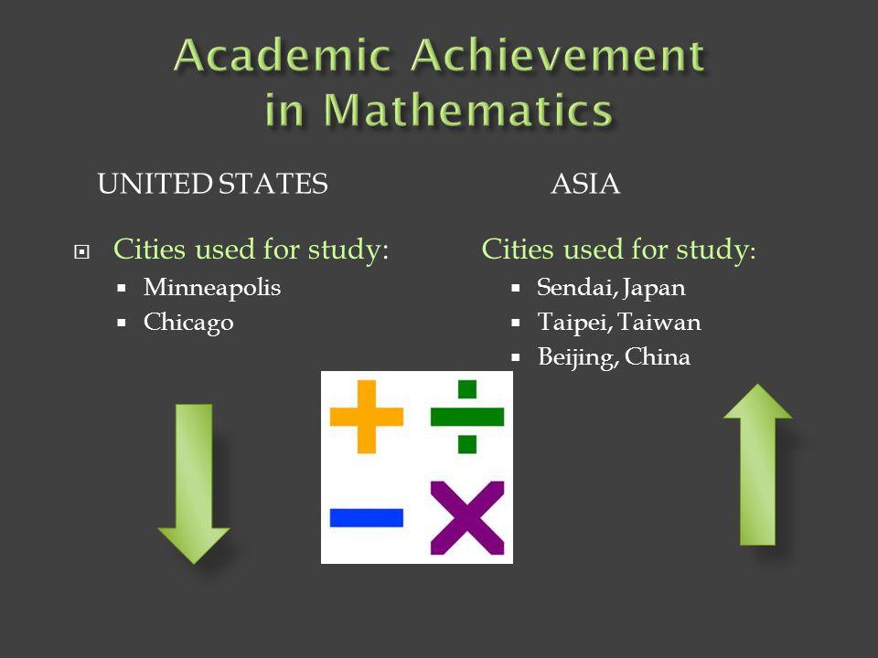  Harold W.Stevenson & James W. Stigler  No prior comparative studies completed.