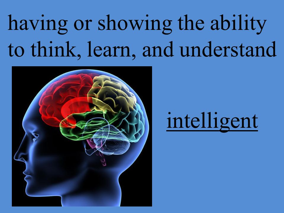 having or showing the ability to think, learn, and understand intelligent