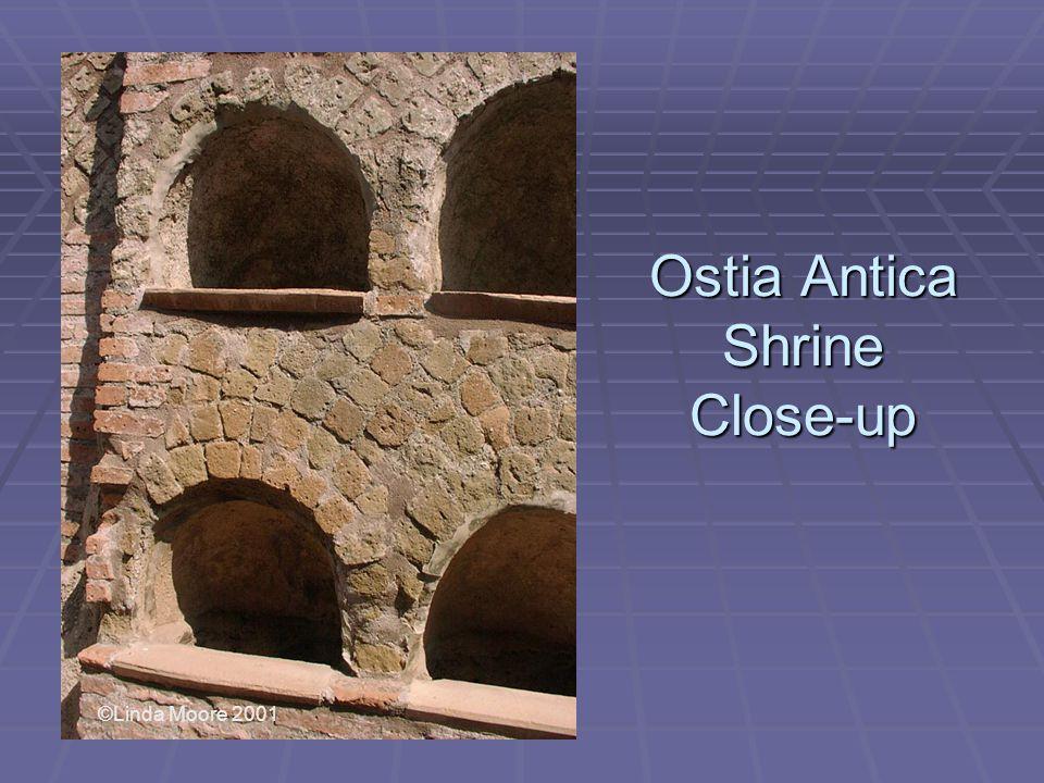 Ostia Antica Shrine Close-up ©Linda Moore 2001