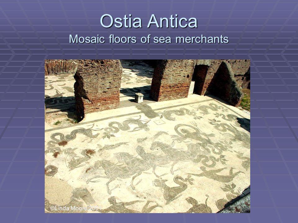 Ostia Antica Mosaic floors of sea merchants ©Linda Moore 2001