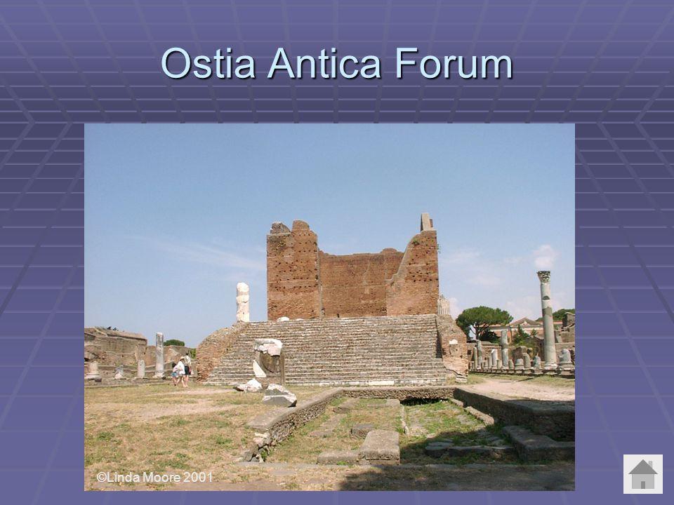 Ostia Antica Forum ©Linda Moore 2001