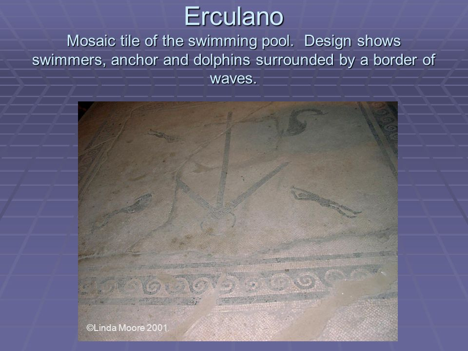 Erculano Mosaic tile of the swimming pool.