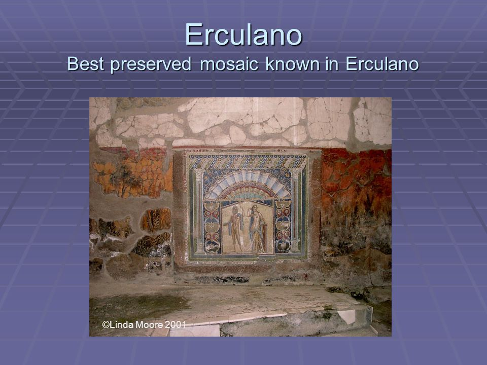 Erculano Best preserved mosaic known in Erculano ©Linda Moore 2001