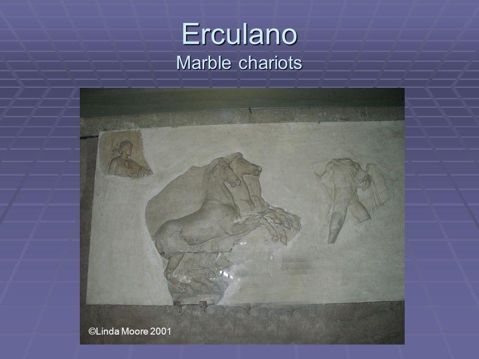 Erculano Marble chariots ©Linda Moore 2001
