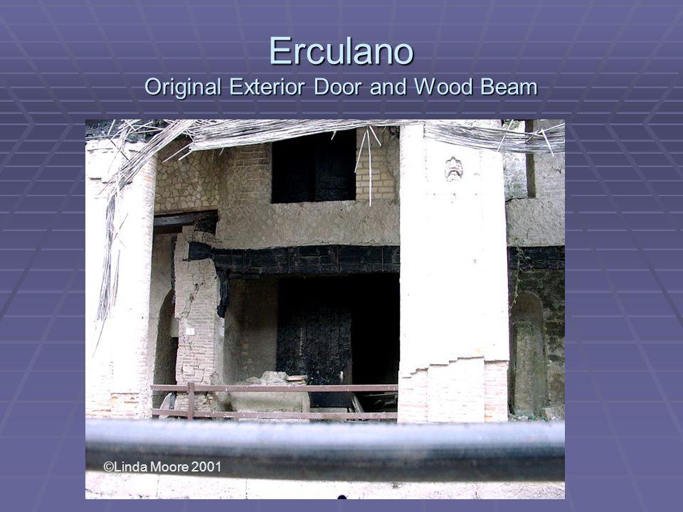 Erculano Original Exterior Door and Wood Beam ©Linda Moore 2001