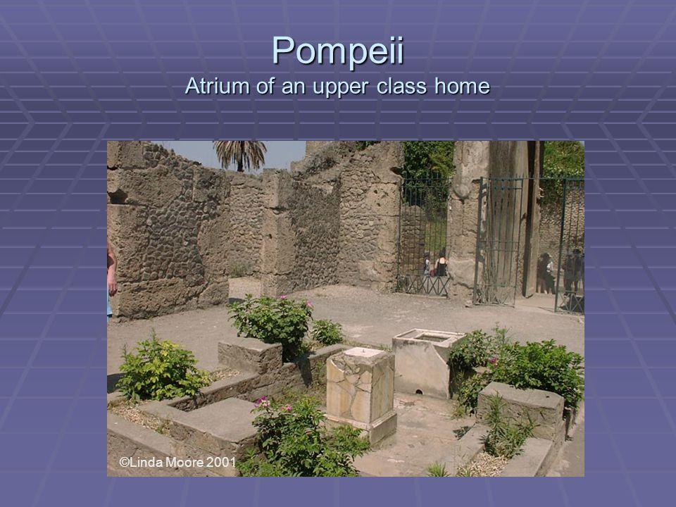 Pompeii Atrium of an upper class home ©Linda Moore 2001