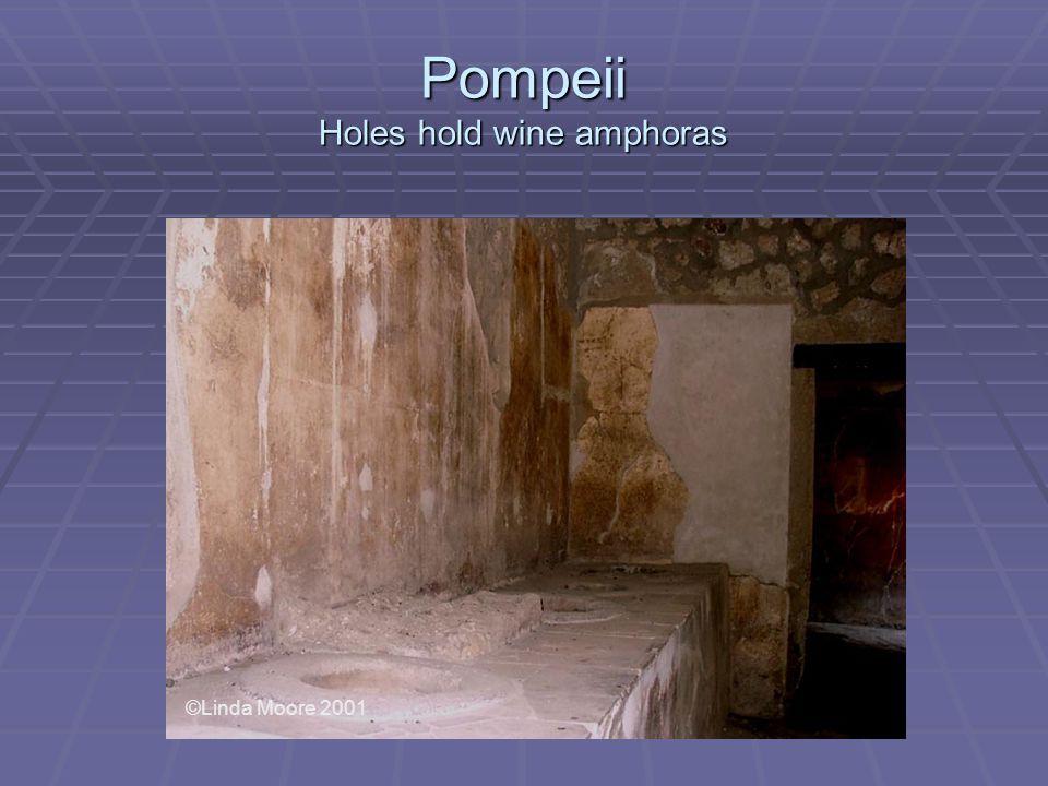 Pompeii Holes hold wine amphoras ©Linda Moore 2001
