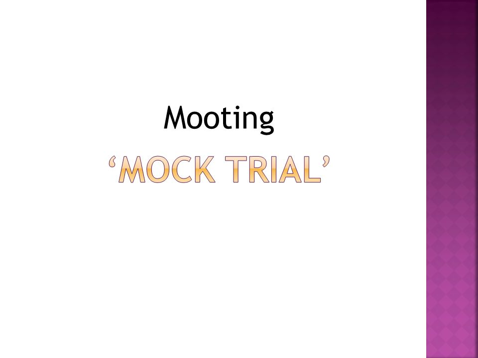 Mooting