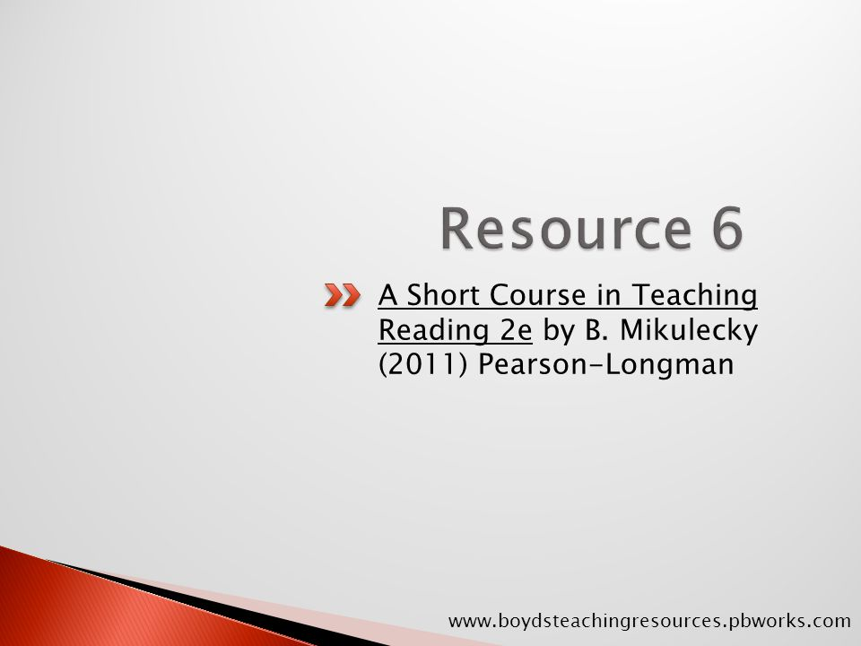 A Short Course in Teaching Reading 2e by B.