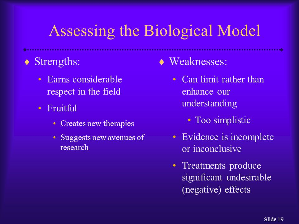Slide 20 The Psychodynamic Model  Oldest and most famous psychological model  Based on belief that a person's behavior is determined largely by underlying dynamic psychological forces of which she or he is not aware Abnormal symptoms are the result of conflict among these forces  Father of psychodynamic theory and psychoanalytic therapy: Sigmund Freud (1856 – 1939)