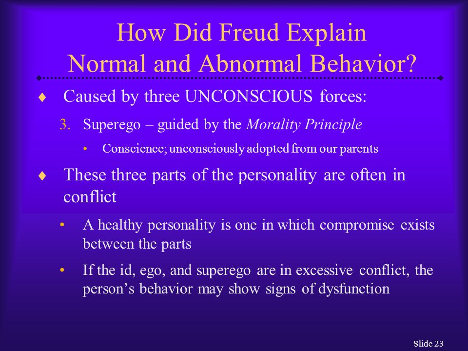 Slide 24 How Did Freud Explain Normal and Abnormal Behavior.