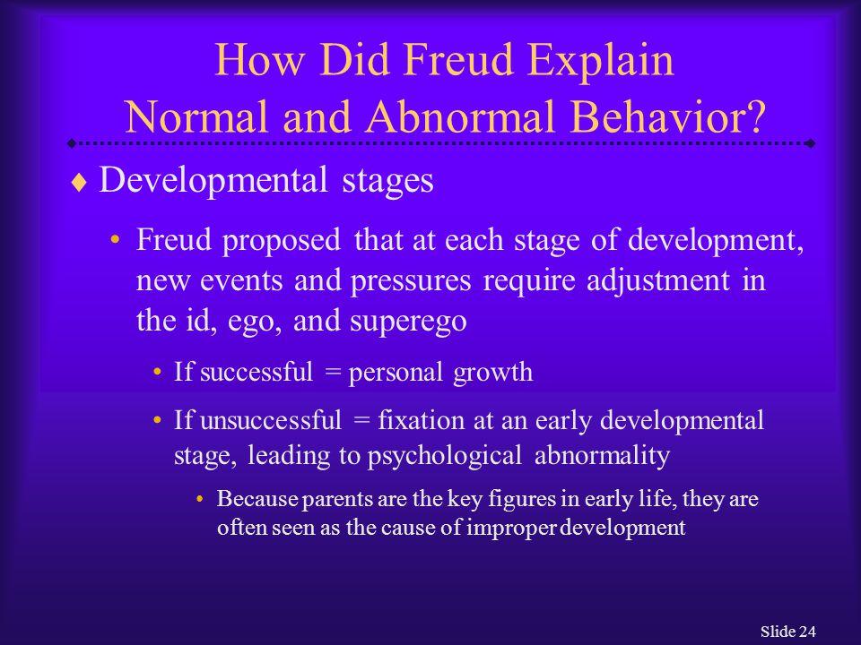 Slide 25 How Did Freud Explain Normal and Abnormal Behavior.