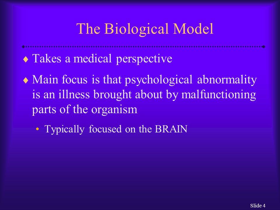 Slide 5 How Do Biological Theorists Explain Abnormal Behavior.