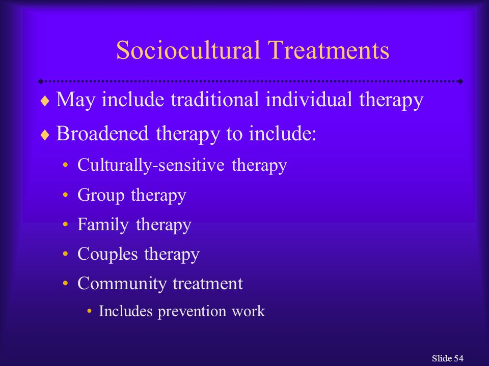 Slide 55 Assessing the Sociocultural Model  Strengths: Added greatly to the clinical understanding of abnormality Increased awareness of labeling Clinically successful when other treatments have failed  Weaknesses: Research is difficult to interpret Correlation  causation Model unable to predict abnormality in specific individuals
