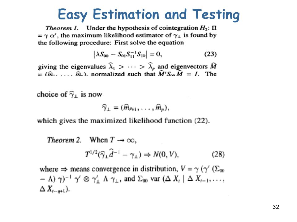 32 Easy Estimation and Testing
