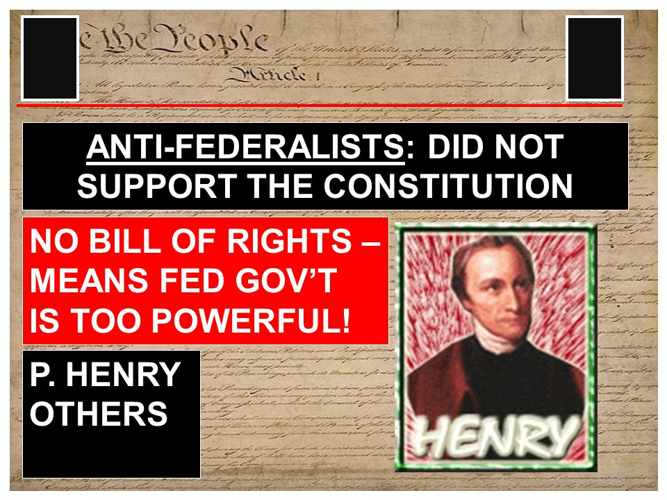 FEDERALISTS: SUPPORTED THE CONSTITUTION AS IS FEDERALIST PAPERS (ESSAYS) HAMILTON, MADISON, & JAY