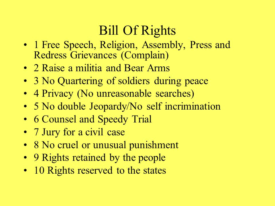BILL OF RIGHTS (RIGHTS FOR CITIZENS) WAS PROMISED & ADDED IN 1791 MOST STATES RATIFY & CONSTITUTION BECOMES LAW.