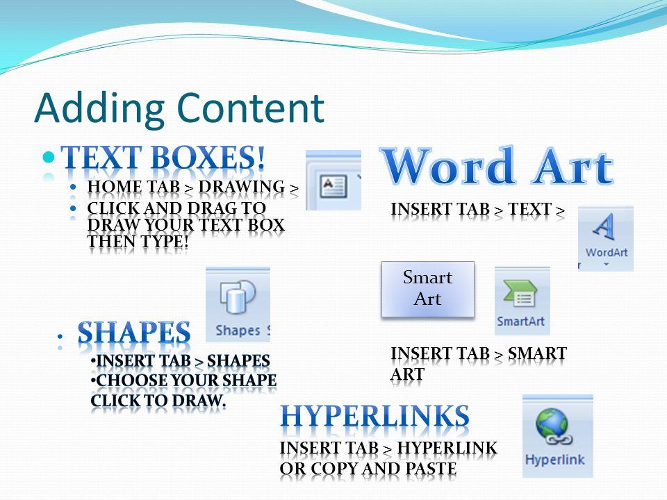 Adding Content Smart Art
