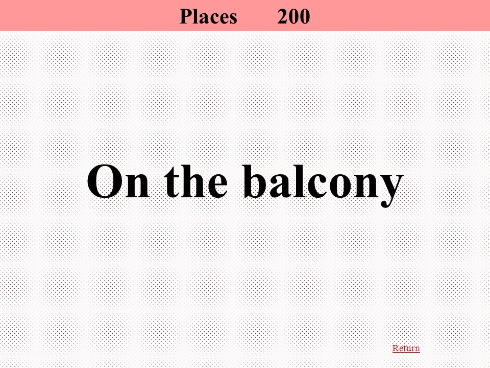Return On the balcony Places200