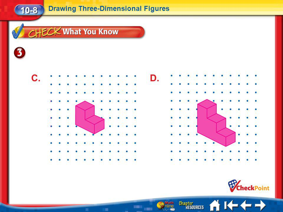 Lesson 8 CYP3 10-8 Drawing Three-Dimensional Figures C.D.