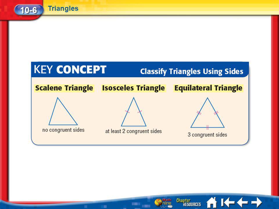 Lesson 6 Key Concept 2 10-6 Triangles