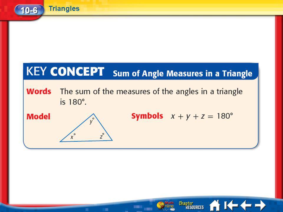 Lesson 6 Key Concept 3 10-6 Triangles