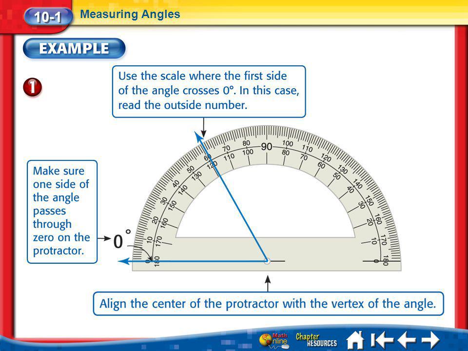 Lesson 1 Ex1 10-1 Measuring Angles