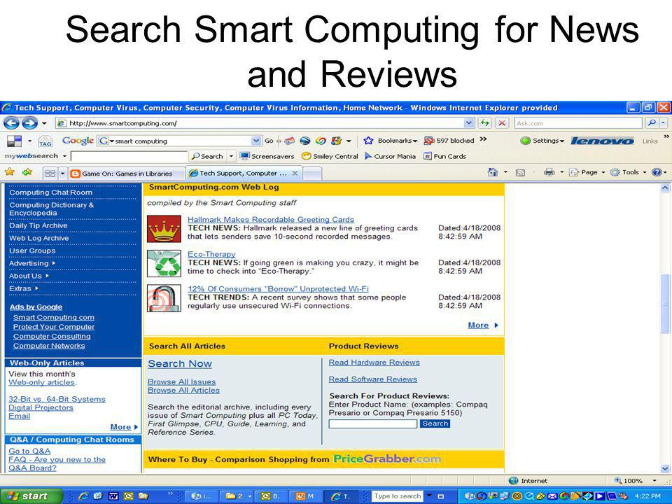 Search Smart Computing for News and Reviews