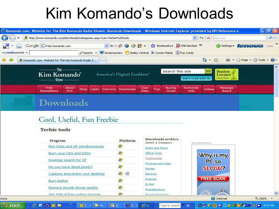 Kim Komando's Downloads
